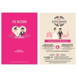 Contoh Undangan Pernikahan Kartun Percetakan Undangan Pernikahan