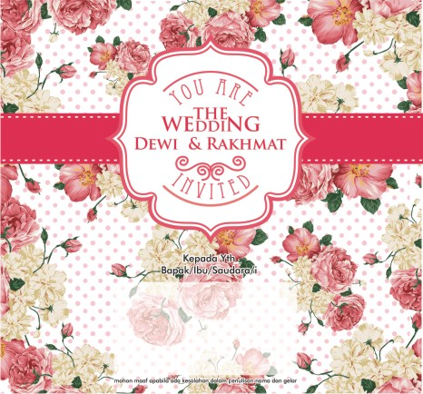 Undangan Pop Up dewi surabaya