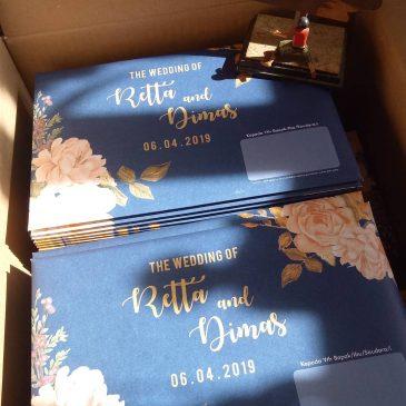 Undangan Hardcover Retta dan Dimas
